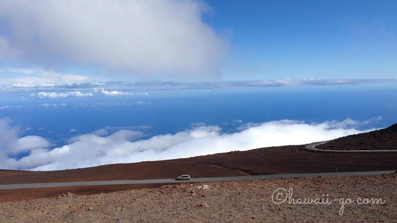 ハレアカラ山頂へ