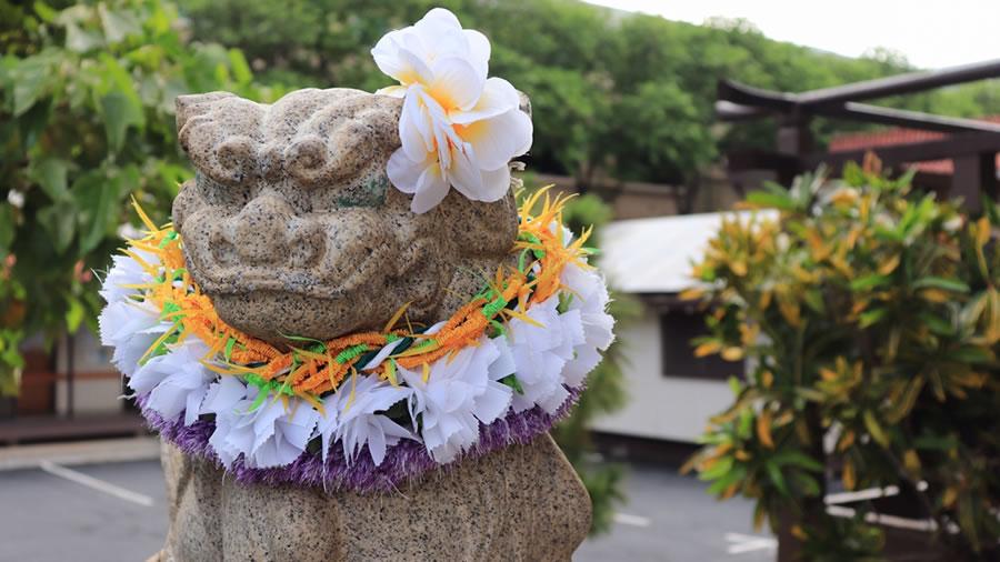 ハワイ出雲神社の狛犬