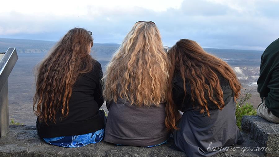 髪の長い女の子たち