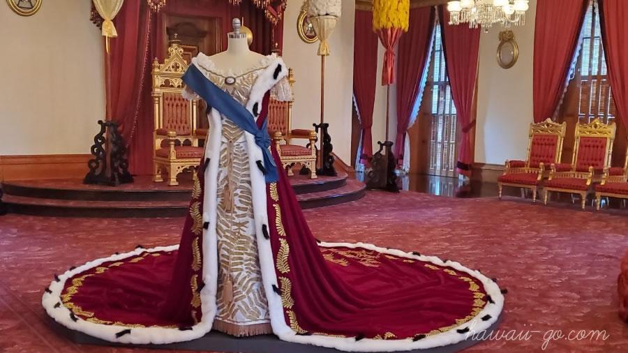 イオラニ宮殿のドレス