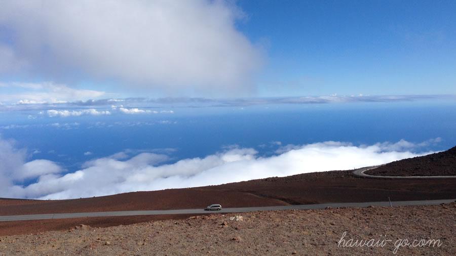 ハレアカラ山頂付近