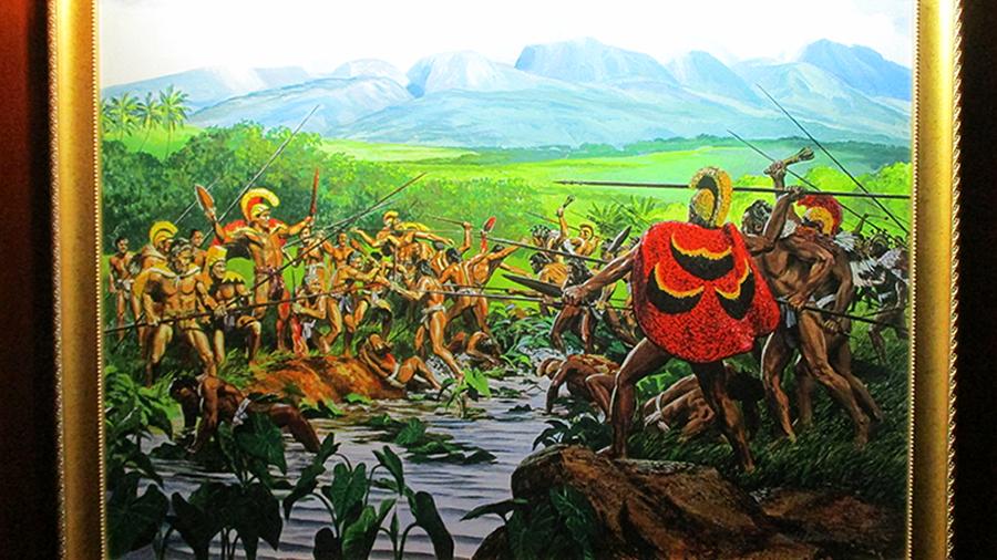 カメハメハとの戦い
