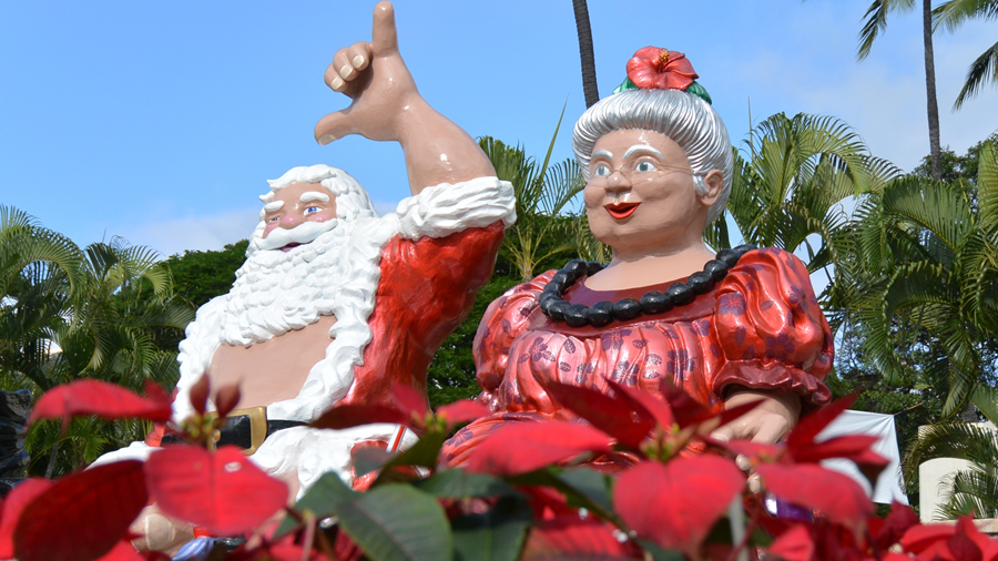 市庁舎のクリスマスディスプレイ